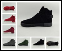 Wholesale lace up warm boots - Winter boots mens Tubular Instinct running Shoes 20 colors adult sneaker keep warm men anti-slip By epacket y3factory Sneakers store EU40-45