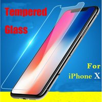 Wholesale Glass Screen Protector Iphone5 - For iphone X 2.5D Tempered Glass For iphone5 iphone7 iphone7 plus iphone6 Screen Protector Film with Crystal box Retail Package