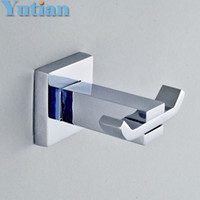 Wholesale Bathroom Construction - ree Shipping Robe Hook,Clothes Hook,Stainless steel Construction with Chrome finish,Bathroom hook Bathroom Accessories,YT-11302
