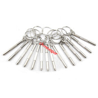 Wholesale Mini Slot Screwdriver - 30pcs free shipping USA Mini Multifunction Key Chain phillips 3 in 1 Screwdrivers slotted torx hex for Glasses Watches Toys Mobile Phones
