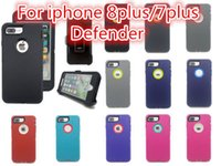 Wholesale Red Defender - Robot Armor 3 in 1 All-Round Protection Defender Case For iphone X 6 6s 7 8 Plus Shell With Package DHL Free Shipping