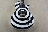 Wholesale electric guitar pick ups - Hot Sale Custom Shop High Quality Zakk Wylde Bullseye white & black 6 Strings Electric Guitar EMG pick-up Free shipping