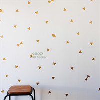 altın film etiketi toptan satış-Altın Üçgen Duvar Sticker, Çıkarılabilir Ev Dekorasyon Sanat Duvar Çıkartmaları Ücretsiz Kargo