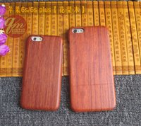 Wholesale Handmade Phone Cases - Real Rosewood Wooden Case Cover For Apple Iphone 6 7 6Plus 6s Plus 5.5'' Nature Wood Bamboo Handmade Cases Phone Shell Shockproof