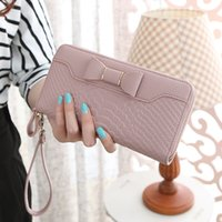 Wholesale Genuine Leather Bags For Sale - Hot Sale Women Long Wallets Purse Female Candy Color Bow Wallet Ladies Clutches Bag For Card Holder Wallet