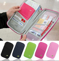 Wholesale card holder online - Passport Holder Ticket Wallet Handbag ID Credit Card Storage Bag Travel passport Wallet Holder Organizer Purse Bag KKA2040