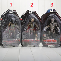 Wholesale Action Figure Predator 12 - NECA Movie Predator Series 2 Classic Predator PVC Action Figure Collection Toy Doll boys gift approx 18CM 3styles can choose
