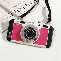 Wholesale Cameras Case For Sale - Hot sale Camera Phone Case Korean Style Camera Phone Case Stand Holder Silicone Gel For Iphone 5 5s 6 6s 6p Iphone 6s Plus Phone Cover