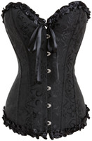 Gothic Embroidered Brocade Corset body lift shaper Bustier Bone Lace Up Steampunk Corset Sexy Corselet Strapless Overbust Slim Corset 8111