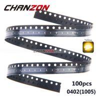 ingrosso diodi di montaggio superficiale-SMD LED Wholesale-100pcs chip giallo 0402 (1005) montaggio superficiale SMT perline LED a emissione di luce