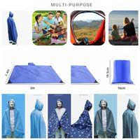 Wholesale Touring Tent - Multifunction Poncho Raincoat Shade Shelter Tent Backpack Rain Cover Camping Moistureproof Picnic Pad 5 Styles LJJO3323