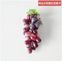 Wholesale Wholesale Fake Grapes - artificial of small size grape bunches fruit grape shot fake props plastic fruit for kids toys