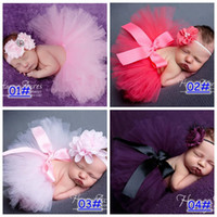 Wholesale Tutu Cute Colors - Hot Sales Newborn Toddler Baby Girl Children's Tutu Skirts Dresses Headband Outfit Fancy Costume Yarn Cute 13 Colors choose Free Shipping