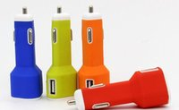 handy-auto-aufladung großhandel-Silikon Dual USB Mini 5V2.1A Auto Ladegerät für Handy Auto Lade für Apple Samsung Htc Lg Dreieck Typ