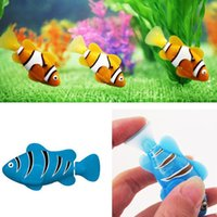 Wholesale Water Intercom - Robo Fish Water Activated Battery Powered Robofish kids Clownfish Bath Toys children Robotic Fish Electronic pet drop DHL shipping
