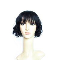 Wholesale Short Posts - 10inch Natural Cheap Hair Wig Body Wave Brazilian Wigs with Bangs 100% Human Hair Wigs For African Americans Post Mail Free Ship