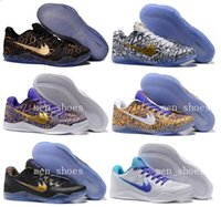 Wholesale Sport Boots Basketball - Men Kobe 11 EM Mamba Day Basketball Shoes Kobe XI ZK11 AEC Low Elite Athletic Sports Shoes Boots 865773-991 Black Gold With Box