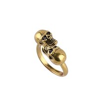 Wholesale gothic rings for women - skull rings for women punk Jewelry gothic open adjustable free size men's personality rings mens gold filled rings