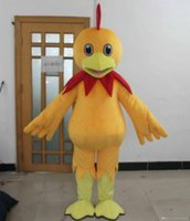 Wholesale Chicken Mascot Costumes - 100% real picture chicken costume a cute adult yellow chicken mascot costume for adult to wear