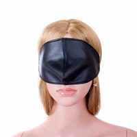 Wholesale Women S Sex Products - Top quality Sex Blindfold Mask S&M PU Leather Bondage Restraints Erotic Toys Cosplay Eye Mask for Woman Men Fetish Slave Adult Game Product