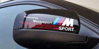 Wholesale Stickers Cases - Free shipping Excellent New 3D M rearview mirror car Sticker Badge case for BMW E34 E36 E60 jacket E46 E39 X1 X3