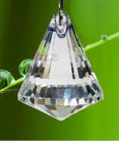 kronleuchter glas kristalle teile großhandel-6 TEILE / LOS 40mm transparente farbe kristall suncatcher prisma ball kristall glas kronleuchter teil anhänger
