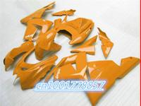 Wholesale Kawasaki Motorcycle Body Parts - Motorcycle Accessories & Parts pure orange 2004 2005 ZX-10R freeship body Ninja plastic fairings ZX10R 04 ZX 10R 05