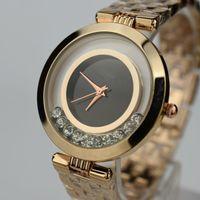 Wholesale Women S Quartz Wrist Watch - Women s Luxury Brand Watches Fashion Gold Watch For Woman High Quality Geneva Dress Wrist watch Casual Quartz Watches Crystal Lady watch