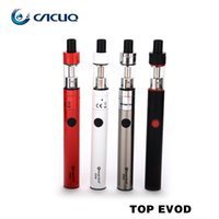 Wholesale Evod Cig Starter Kit - Authentic Kanger Topevod Starter Kit 1.7ml toptank evod atomizer Tank fit vocc coils 650mah battery Kangertech Top Evod Kit E Cig