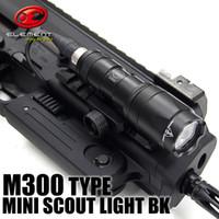 mini lanternas táticas venda por atacado-Tactical SF M300 MINI SCOUT LUZ M300a LED Mini Scout Lanterna Gun Luzes Preto
