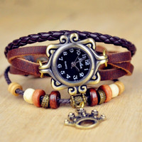 Wholesale Leather Bracelet Manufacturers - Free shipping Infinity Watch Fashion Bracelet WatchesMs antique watch The crown of the statue of liberty manufacturers selling wholesale