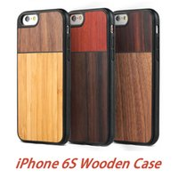Wholesale Hard Case I5 - Fashion Hybrid Wood Cover For Apple iPhone 6 6s Plus 4.7 5.5 i5 Wooden Bamboo Phone Case Hard Shockproof Covers