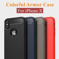 Wholesale Wholesale Iphone Cases Drawing - For iPhone X 8 7 6S Plus Case Carbon Fiber Drawing Case for Samsung Note8 S8 S8Plus S7 Edge Armor Case