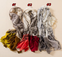 Wholesale Ombre Scarves - 2017 Women Fashion Viscose Scarf Gradient Ombre Floral Tassel Cotton Shawl Print Voile Brand Designer Hijab Headband Wrap Muslim Sjaal Capes