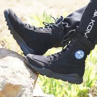 botas erkek toptan satış-2017 Açık Ordu Çizmeler Işık erkek Çöl Taktik Ayakkabı Sonbahar Nefes Savaş Ayak Bileği Çizmeler Botas Tacticos Zapatos