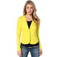Wholesale Mint Green Coat - Women's Blazer Suit with Single Button Celebrity Mint Ladies Jacket Coats Multi Colors S-2XL