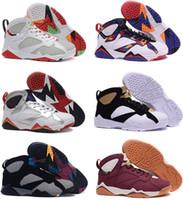 baloncesto francés al por mayor-Cheap 7s 7 Bordeaux Olympic Tinker Alternate hombres baloncesto zapatos Hare University Blue French Blue GMP Raptor nuevas zapatillas deportivas