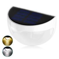 güneş ışığı paketleme toptan satış-2017 Moda 6 LEDs Sensörü Güneş Enerjili Işık Açık Lambası LED Duvar Işık Bahçe Lambası ABS + PC Kapak Renk Paketi Ev Merdiven Su Geçirmez Ampul