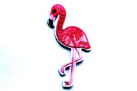 Wholesale Lovely Fashion Wholesale Shoes - Clothing Embroidered Irons Pink Flamingo Bird Patches Applique Sewing Patch Stickers Sew-on Garment Hats Bags Shoes Fashion Lovely Birds
