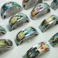 Wholesale Christian Jewelry For Women - Never Fade Jesus Taught Christian Enamel Stainless Steel Ring For Women or Men Wholesale Jewelry Bulks Rings Free Shipping LR530
