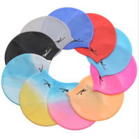 Wholesale Silicone Swim Caps Wholesale - 3 Pieces Start Sale Unisex High Elastic Waterproof Silicone Swimming Cap