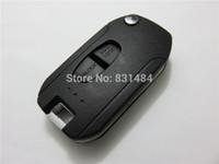 Wholesale Mitsubishi Button Flip Key - 2 Buttons Modified Flip Folding Key Case Shell for Mitsubishi Replacement smart car keysl for mitsubishi