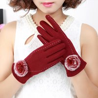 Wholesale Cheap Touch Screen Cellphones - Cheap Bridal Gloves For Fall Winter Warm Venonat Cellphone Touch Screen Glove For Women Bridal Accessories For Wedding Dress Cycling Gloves
