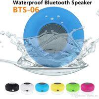 Wholesale Iphone 4s Sound Box - BTS06 Bluetooth Waterproof Speaker Shower Wireless Speakers BTS-06 Handfree Sucker for IPhone 5 5S 4S Samsung S4 Smartphone with Retail Box