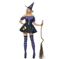 Wholesale Womens Witch Costumes - Sexy Witch Costume High Quality Deluxe Adult Womens Magic Moment Costume Adult Witch Halloween Fancy Dress Outfits W295007