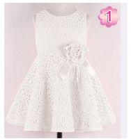 Wholesale Kids Noble Fairy Dress - Wholesale- Fashion 2014 Summer New girls kids Children noble fairy bow princess lace dress high quality