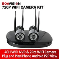 Wholesale Waterproof Nightvision - 1.0MP WiFi Camera NVR System With 2Pcs Wireless IP Camera Security NightVision P2P Outdoor Waterproof CCTV Surveillance System P2P View