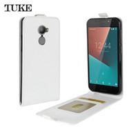 Wholesale Cover N8 Phone - TUKE Vertical Flip Case Cover for Vodafone Smart N8 Coque Funda Phone Cases PU Leather Case for Vodafone Smart N 8 Phone Bag