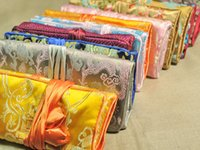 Atacado 20 * 28cm 5pcs Chinês Handmade Classic Silk Jewelry Rolls Pouch Purse Gift Bag