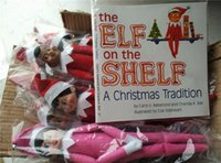 Wholesale Plush Toys For Girls - 60PCS lot 2017 Hot sell Gift:30pcs Christmas doll+30 pcs Soft cover Books Christmas Toys Boy and Girl Doll for Kids Christmas Gifts